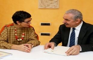أشتية يطالب اسبانيا بالاعتراف بالدولة الفلسطينية