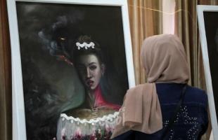 شيزوفرينيا غزة.. معرض فنّيلمناهضة العنف ضدّ النساء- صور