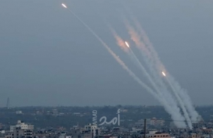 اطلاق صاروخ تجاه البلدات الإسرائيلية  من قطاع غزة- تم اعتراضه -فيديو