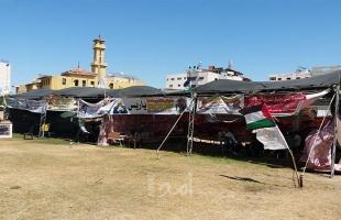أجهزة أمن حماس تزيل خيمة الإعتصام لإلغاء التقاعد الإجباري في غزة - صور