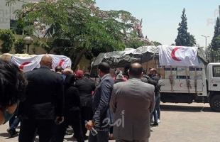 """الهلال الأحمر المصري و""""الهجرة الدولية"""" يقدمان 20 طن من المساعدات لقطاع غزة"""