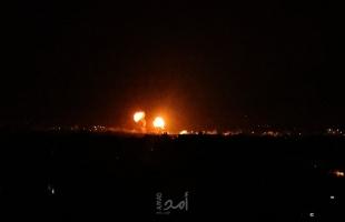 طائرات الاحتلال تشن غارات على أهداف في قطاع غزة