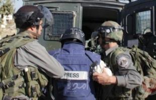 قوات الاحتلال تعتقل (7) صحفيين خلال تغطيتهم لفعالية في الخليل- أسماء