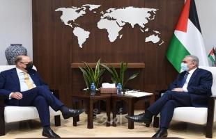 اشتية يُطالب أوروبا بالضغط على إسرائيل لإلزامها بالاتفاقيات المُوقعة