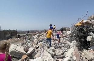 جيش الاحتلال يهدم (4) محال تجارية قيد الإنشاء غرب رام الله