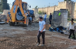 قوات الاحتلال تواصل التجريف في المقبرة اليوسفية بالقدس