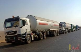 إدخال 19 شاحنة محملة بالغاز المصري إلى غزة