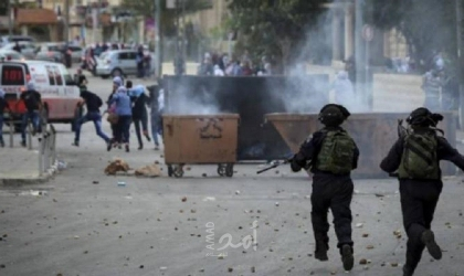 إصابات بالاختناق خلال مواجهات مع قوات الاحتلال غرب رام الله