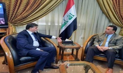 عبد الهادي يطلع سفير العراق على أخر المستجدات في الأراضي الفلسطينية