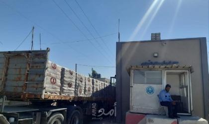إدخال (31) شاحنة محملة بالحديد إلى غزة