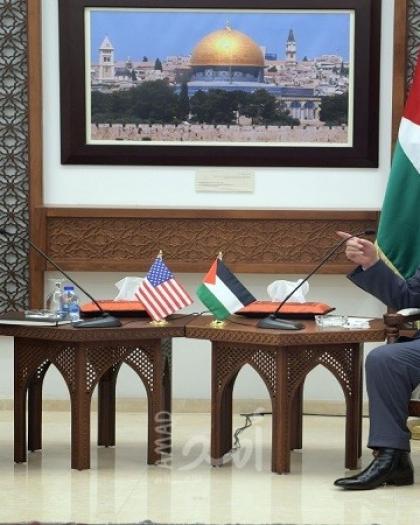 وصول وزير الخارجية الأمريكية إلى رام الله