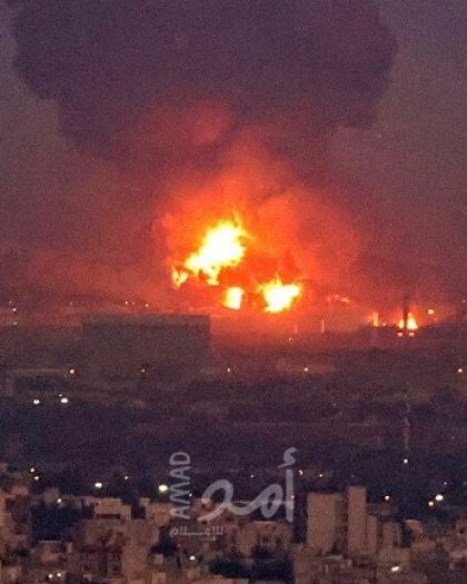 حريق في مصنع بتروكيماويات بإيران